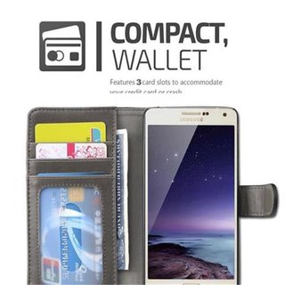 Book Case for Samsung Galaxy A5 2015 (5) in GREY BLACK by Cadorabo (Design BICOLOR) ? with Magnetic Closure, Stand Function and 3 Card Slots ? Wallet Case Etui Cover Protection Pouch PU Leather Soft Flip Card Holder