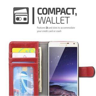 Book Case for Samsung Galaxy A5 2015 (5) in RED BLACK by Cadorabo (Design BICOLOR) with Magnetic Closure, Stand Function and 3 Card Slots Wallet Case Etui Cover Protection Pouch PU Leather Soft Flip Card Holder