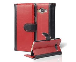 Book Case for Samsung Galaxy A5 2015 (5) in RED BLACK by...