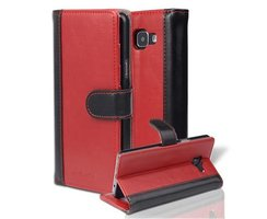 Book Case for Samsung Galaxy A5 2016 (6) in RED BLACK by...