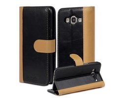 Book Case for Samsung Galaxy J5 2015 (5) in BLACK KHAKI...