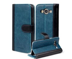 Book Case for Samsung Galaxy J5 2015 (5) in BLUE BLACK by...