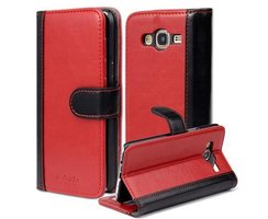 Book Case for Samsung Galaxy J5 2015 (5) in RED BLACK by...