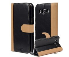 Book Case for Samsung Galaxy J5 2016 (6) in BLACK KHAKI...