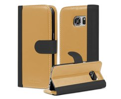 Book Case for Samsung Galaxy S7 in BLACK KHAKI by...