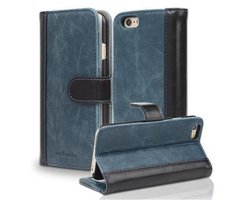 Book Case for Apple iPhone 6 / iPhone 6S in BLUE BLACK by...