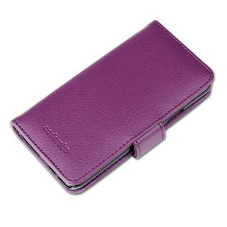 Cadorabo Book Case works with Samsung Galaxy A3 2015 in BORDEAUX PURPLE with Magnetic Closure and 3 Card Slots Wallet Etui Cover Pouch PU Leather Flip