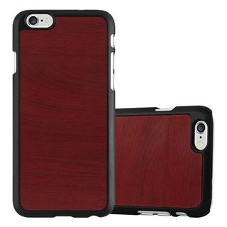 Cadorabo Case works with Apple iPhone 6 / iPhone 6S in WOODY RED ? Shockproof and Scratch Resistent Plastic Hard Cover ? Ultra Slim Protective Shell Bumper Back Skin