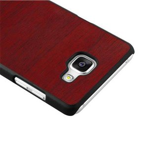 finest selection e2e97 3b0fe Cadorabo Case works with Samsung Galaxy A5 2016 in WOODY RED ? Shockproof  and Scratch Resistent Plastic Hard Cover ? Ultra Slim Protective Shell ...