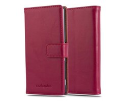 Cadorabo Book Case works with Sony Xperia Z4 in WINE RED...