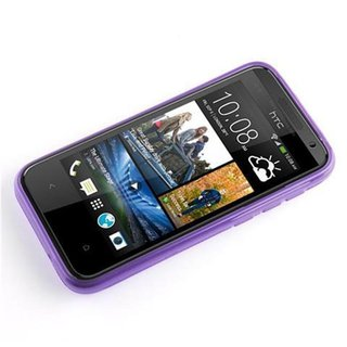 Cadorabo Case works with HTC Desire 300 in PASTEL PURPLE - Shockproof and Scratch Resistant TPU Silicone Cover - Ultra Slim Protective Gel Shell Bumper Back Skin