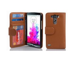 Cadorabo Book Case works with LG G3 in COGNAC BROWN -...