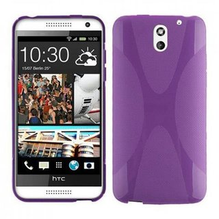 Cadorabo Case works with HTC Desire 610 in PASTEL PURPLE - Shockproof and Scratch Resistant TPU Silicone Cover - Ultra Slim Protective Gel Shell Bumper Back Skin