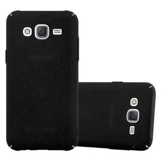 huge selection of 5ec36 7e66e Cadorabo Case works with Samsung Galaxy J5 2015 in FROSTY BLACK -  Shockproof and Scratch Resistent Plastic Hard Cover - Ultra Slim Protective  Shell ...