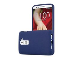 Cadorabo Case works with LG G2 in FROST DARK BLUE -...