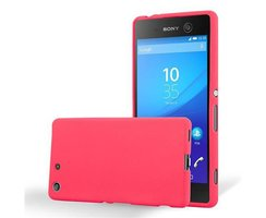 Cadorabo Case works with Sony Xperia M5 in FROST RED -...