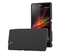 Cadorabo Case works with Sony Xperia Z in FROST BLACK...