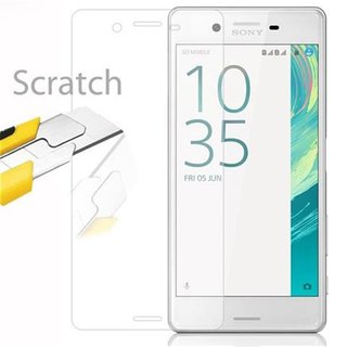 Cadorabo Tempered Glass works with Sony Xperia X in HIGH TRANSPARENCY - Screen Protection 3D Touch Compatible with 9H Hardness - Bulletproof Display Saver