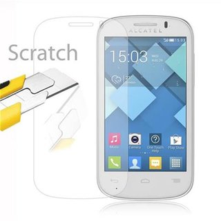 Cadorabo Tempered Glass works with Alcatel C3 in HIGH TRANSPARENCY - Screen Protection 3D Touch Compatible with 9H Hardness - Bulletproof Display Saver