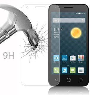 Cadorabo Tempered Glass works with Alcatel PIXI 3 (5.5 Zoll) in HIGH TRANSPARENCY - Screen Protection 3D Touch Compatible with 9H Hardness - Bulletproof Display Saver