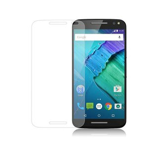 Cadorabo Tempered Glass works with Motorola MOTO X STYLE in HIGH TRANSPARENCY - Screen Protection 3D Touch Compatible with 9H Hardness - Bulletproof Display Saver