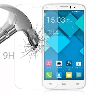 Cadorabo Tempered Glass works with Alcatel C5 in HIGH TRANSPARENCY - Screen Protection 3D Touch Compatible with 9H Hardness - Bulletproof Display Saver