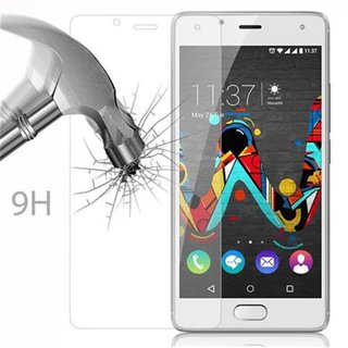 Cadorabo Tempered Glass works with WIKO U FEEL in HIGH TRANSPARENCY - Screen Protection 3D Touch Compatible with 9H Hardness - Bulletproof Display Saver