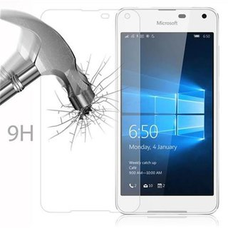 Cadorabo Tempered Glass works with Nokia Lumia 650 in HIGH TRANSPARENCY - Screen Protection 3D Touch Compatible with 9H Hardness - Bulletproof Display Saver