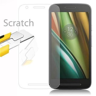 Cadorabo Tempered Glass works with Motorola MOTO E3 in...