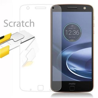 Cadorabo Tempered Glass works with Motorola MOTO Z PLAY...