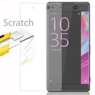 Cadorabo Tempered Glass works with Sony Xperia XA in HIGH TRANSPARENCY - Screen Protection 3D Touch Compatible with 9H Hardness - Bulletproof Display Saver