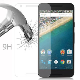 Cadorabo Tempered Glass works with LG Google NEXUS 5X in HIGH TRANSPARENCY - Screen Protection 3D Touch Compatible with 9H Hardness - Bulletproof Display Saver