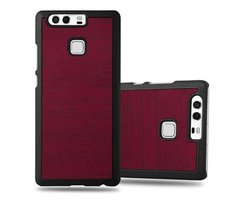 Cadorabo Case works with Huawei P9 in WOODY RED ?...
