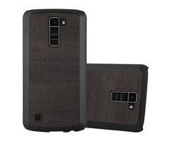 Cadorabo Case works with LG K10 2016 in WOODY BLACK ?...