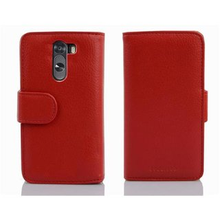Cadorabo Hülle für LG G2 MINI - Hülle in INFERNO ROT -...