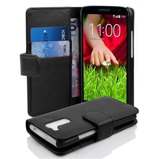 Cadorabo Book Case works with LG G2 MINI in OXID BLACK -...