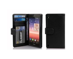 Cadorabo Book Case works with Huawei P7 in MIDNIGHT BLACK...