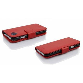 Cadorabo Book Case works with LG NEXUS 5 in INFERNO RED -...
