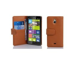 Cadorabo Book Case works with Nokia Lumia 1320 in SADDLE...