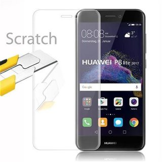 Cadorabo Tempered Glass works with Huawei P8 LITE 2017 in...