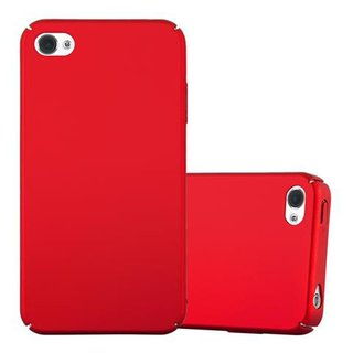 e940511a105ff7 Cadorabo Case works with Apple iPhone 4 / iPhone 4S in METAL RED -  Shockproof and ...