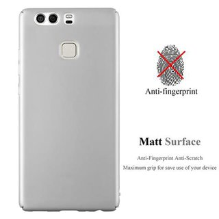 Cadorabo Hülle für Huawei P9 in METALL SILBER - Hardcase...