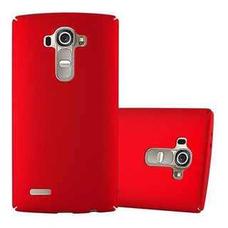 Cadorabo Hülle für LG G4 / G4 PLUS in METALL ROT -...