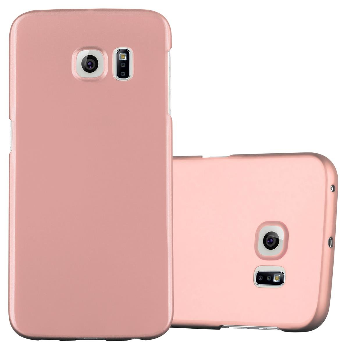 samsung galaxy s6 edge hard case metallic look rose gold. Black Bedroom Furniture Sets. Home Design Ideas