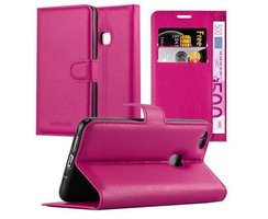 Cadorabo Book Case works with Huawei P10 LITE in HOT PINK...