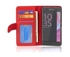 Cadorabo Book Case works with Sony Xperia XA in INFERNO...