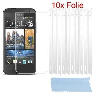 Cadorabo - 10 x Screen Protector Crystal Clear HQ for > HTC DESIRE 500 < high clear - Transparent