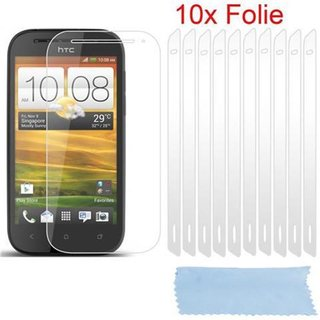 Cadorabo 10 x Screen Protector Crystal Clear HQ for > HTC ONE SV < high clear Transparent
