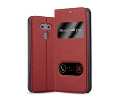 Cadorabo Book Case works with LG G6 in SAFFRON RED - with...
