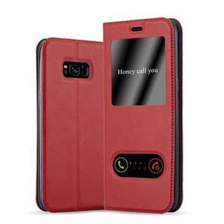 samsung galaxy s8 h lle mit fenster apfel rot. Black Bedroom Furniture Sets. Home Design Ideas